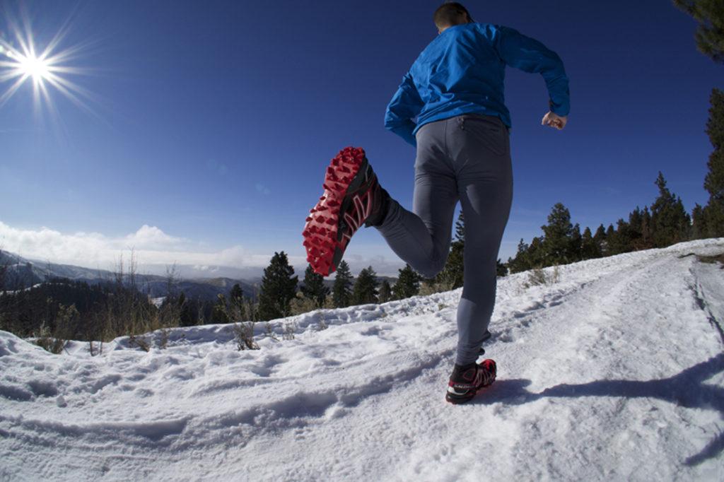 Τρέξιμο στο χιόνι trail running snow