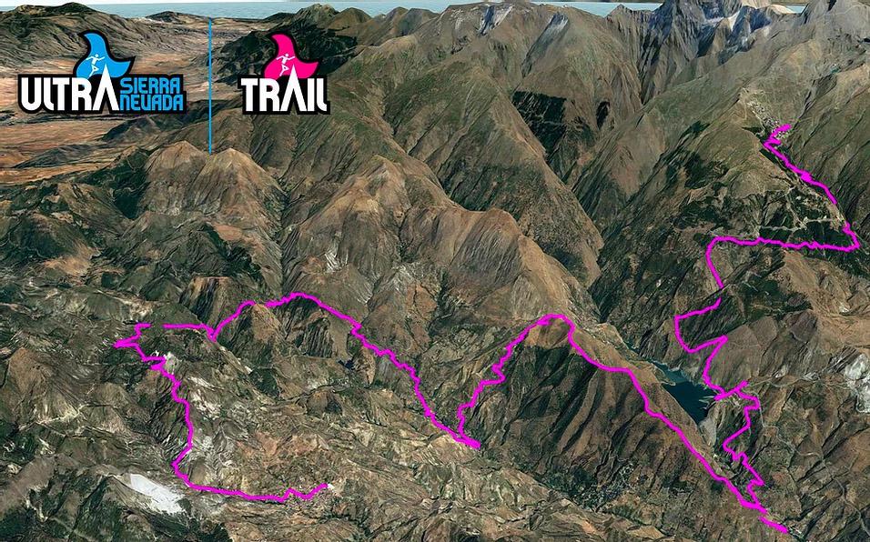 Trail Ultra Sierra Nevada route
