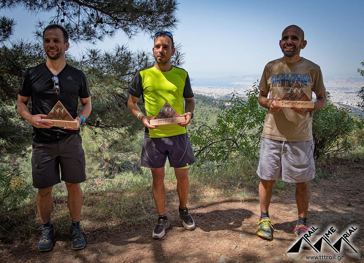 Trail Time Trial Υμηττός Απονομές Ανδρών