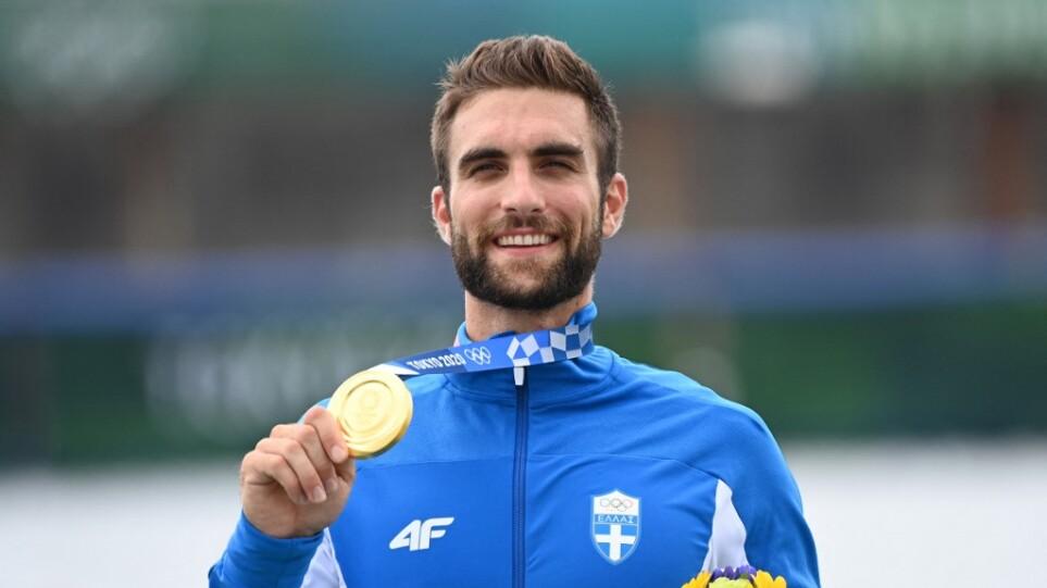 Στέφανος Ντούσκος χρυσό μετάλλιο στην κωπηλασία - Tokyo 2020