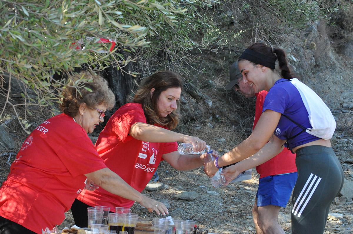 Andros Trail Race Happy Volunteers