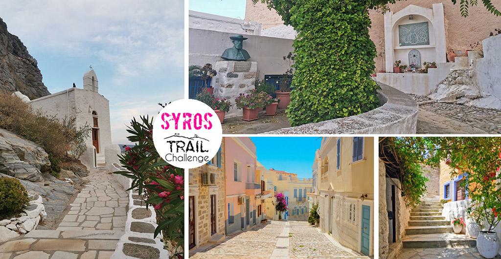 Syros trail challenge race views