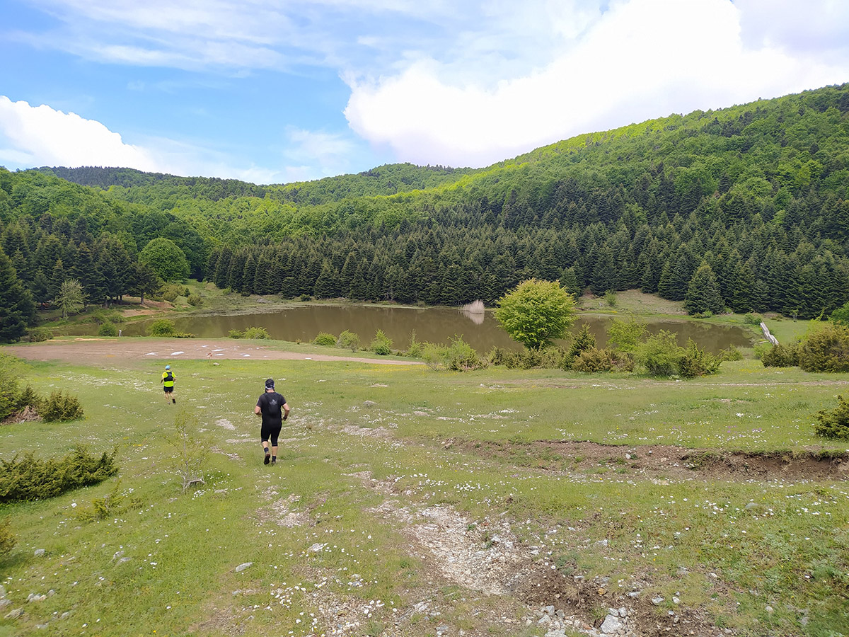 Pourlia trail λίμνη Κατή